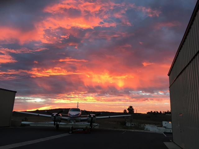 Sunset at the Airpark